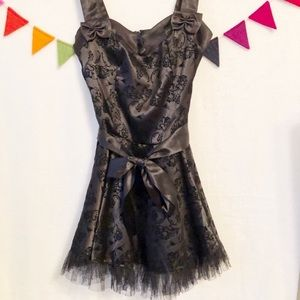 {Hell Bunny} Vintage Style Tulle Black Dress